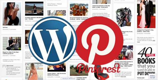 wordpress pinterest theme clone script plugin 2012